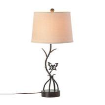Art Desk Lamp, Brown Small Desk Lamp Night Light - Iron, Butterfly Design - $107.57