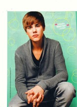 Justin Bieber teen magazine pinup clipping playing over sized shirt Astro - $3.50