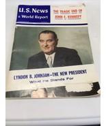 Vintage U.S. News & World Report December 2, 1963 Tragic End JFK & LBJ P... - $13.75