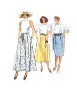 80s Vtg Vogue Sewing Pattern 9850 Misses Easy Straight Flared Skirt 14 1... - $6.95