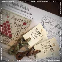 Apple Pickin 2 FLOSS + FREE CHART Classic Colorworks Little House Needle... - $4.30