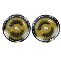 Fake Eyelashes 3D Mink Fur False Eyelashes Thick Cross Style 2 Pairs Eas... - $24.03
