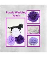 Purple Wedding Flowers for dog collars, Lavender cat embellishment - $11.00