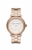 Marc Jacobs Women's Riley Rose Gold-Tone Chronograph Watch 36mm MJ3471 - $89.00