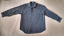 Van Heusen Shirt Mens Wrinkle Free PLaid L15-16 1/2 - $20.56