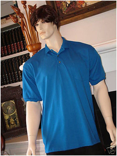 X-Large Stedman by Hanes 5.5 oz 50//50 Jersey Knit Polo in Kelly Green