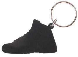 Good Wood NYC Taxi 12 Sneaker Keychain Black/Grey IV Shoe Ring Key Fob image 2