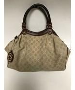 Gucci Sukey Medium Tote Sand w Brown Leather Trim Handbag  - REG $995 - ... - $371.25
