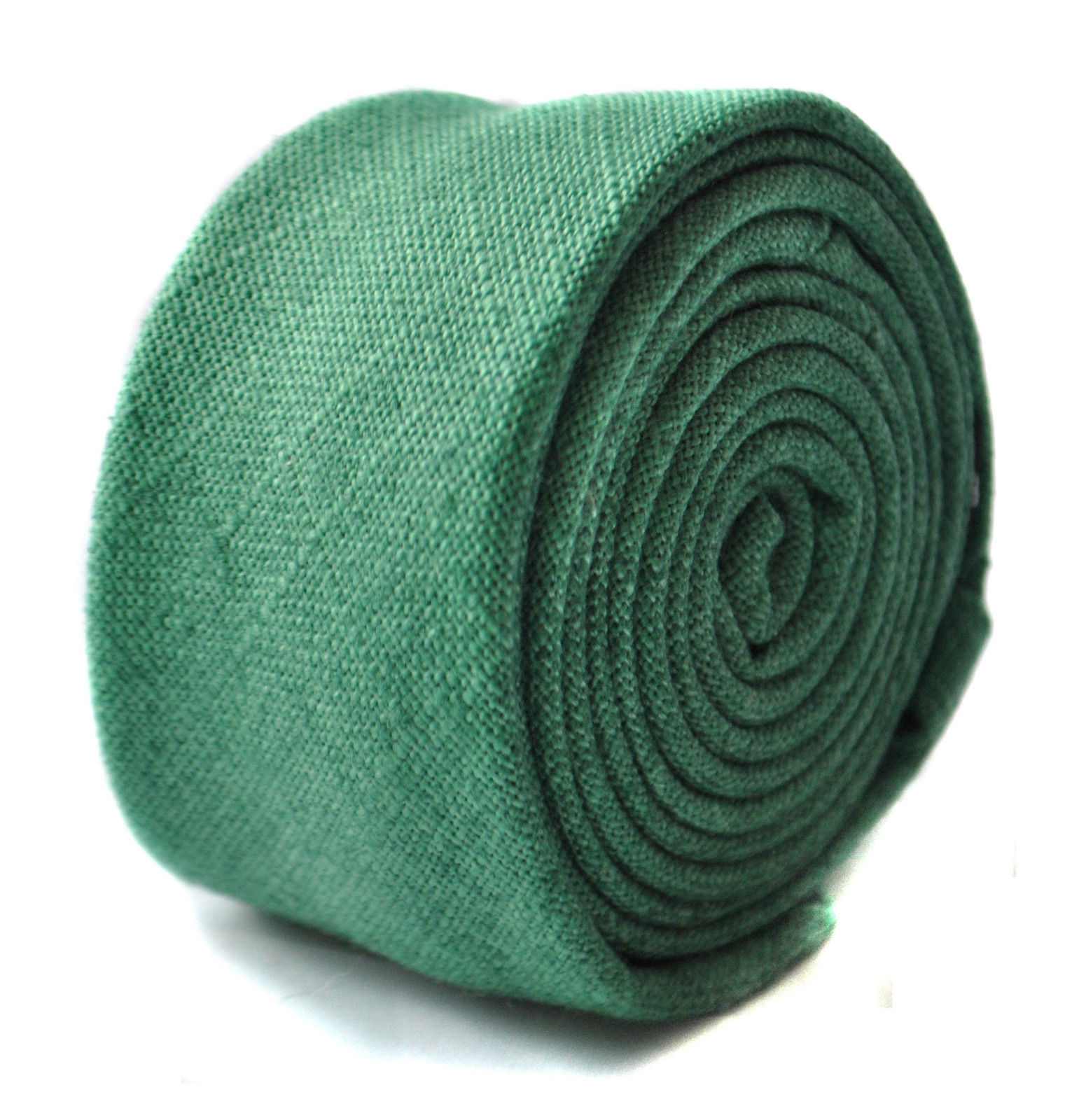 Frederick Thomas dark green linen tie FT1643