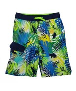 Cat & Jack Boys Swim Trunks L 12/14 Dinosaur Tropical Swimwear Swimsuit ... - $16.99