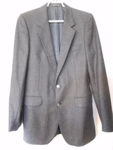 YVES SAINT LAURENT YSL  France Charcoal grey Pinstripe Jacket Blazer Spo... - $44.54