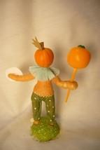 Vintage Inspired Spun Cotton, Pumpkin Boy Halloween image 2