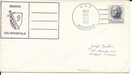 MANSFIELD (DD-728) 23 May 1963 Locy Type 2 postmark DESRON 9 CACHET - $3.47