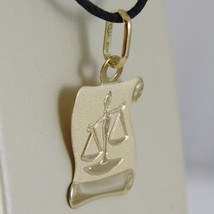 18K YELLOW GOLD ZODIAC SIGN MEDAL, LIBRA, PARCHMENT ENGRAVABLE MADE IN ITALY image 2
