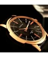 Fashion Mens Watches Blue Glass Male Watch Waterproof Leather Luxury Wri... - $10.88+