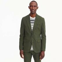 J Crew Ludlow (Very) Slim Suit Olive Fatigue Seersucker 42S Pants 33x30 ... - $232.82