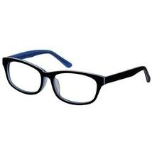 EBE Bifocal Unisex Black Crystal Blue Retro Style Regular Reading Glasses - $30.33