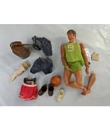 Mattel Big Jim Doll Karate Chop with Accessories Broken Leg 1971 - $59.95