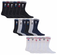 6 Pack Mens Thick Breathable Cushioned Cotton Striped Sports Gym Athletic Socks - $12.99