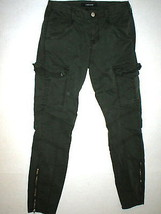 New J Brand Jeans Womens Skinny Pants Houlihan 25 Distressed Caledon Green Zip image 2