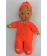 "Mattel Baby Beans Orange 1970 Blonde Doll Yawn 11"" Open Mouth Vintage  - $64.34"