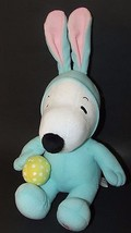 Hallmark Plush Snoopy Bunny Easter Rabbit ears costume pjs sound laughs ... - $9.89
