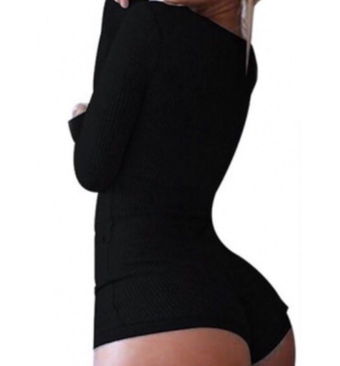 Black jumper romper medium nwot