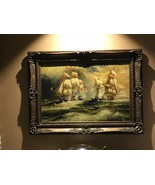 Wall Canvas Oil Painting With Art Frame - Sailing Boat at Sea - $4,949.99