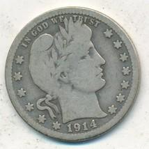 1914-S BARBER SILVER QUARTER-KEY DATE-NICE CIRCULATED QUARTER-FREE S/H! ... - $104.95