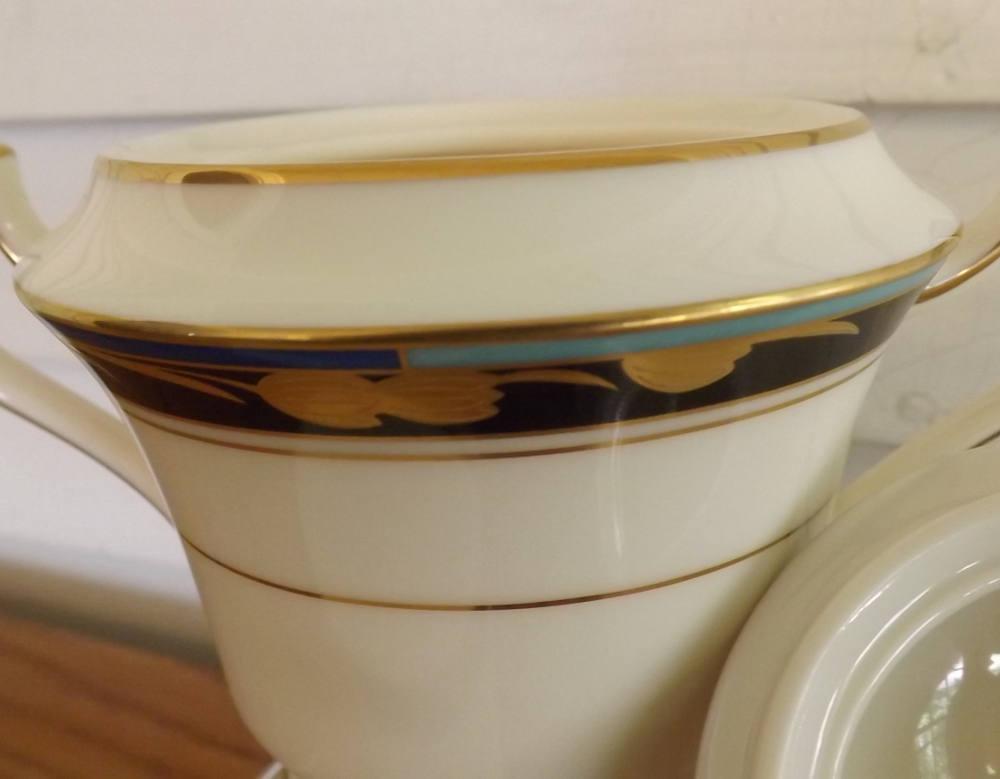 Mikasa Chatelaine Cream & Sugar Vintage Lan17 Chatelaine Pattern Fine Chinaware