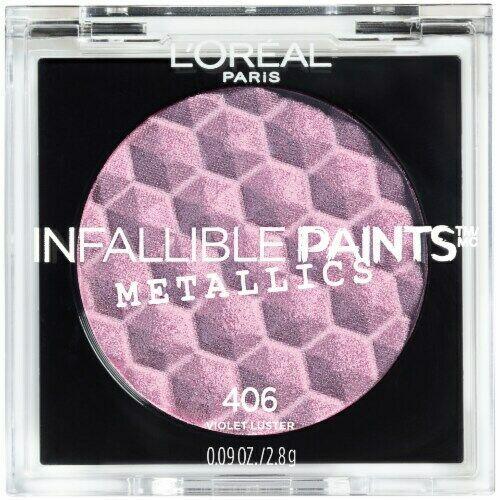 L'Oreal Infallible Paints Metallics Eyeshadow, Violet Luster, 0.09 Oz - $6.79