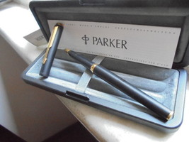 PARKER 95 PENNA STILOGRAFICA ACCIAIO NERO E ORO +SCATOLA +GARAN FOUNTAIN... - $40.34