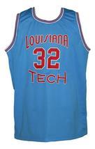 Karl Malone #32 College Basketball Jersey Sewn Light Blue Any Size image 4