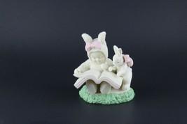 "Department 56 Snowbunnies ""A Bunny Tale"" 2001 Bunny Reading Book # 56.26393 - $17.82"