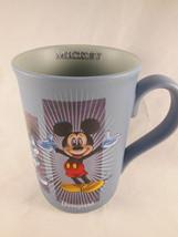 Disney Parks Walt Disney World Mickey Mouse Blue Coffee Tea Mug Cup 4 1/... - $9.89