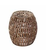 Zingz and Thingz Faux Woven Rattan Stool - $154.64