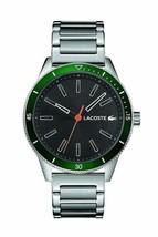 Lacoste Men's Key West Quartz Stainless Steel and Bracelet Casual Watch, Silver - $163.63