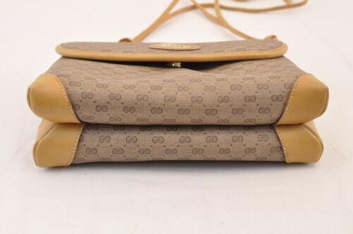 GUCCI GG Canvas Shoulder Bag Brown PVC Leather Auth sa1823 **Powder image 8