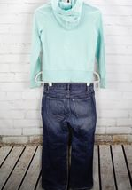 Gap Kids Logo Full Zip Hoodie Sweatshirt + Jeans Girls Size L 10 Outfit Set  image 5