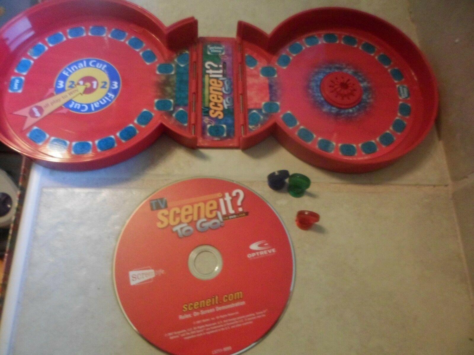 TV Scene it? To Go TRAVEL Game Trivia DVD in mini board folding  case 2006 - $4.73