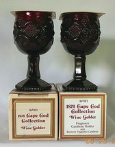 Vintage Avon 1876 Cape Cod Collection Wine Goblets w/Bayberry Fragrance ... - $20.00