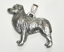 Australian Shepherd Pendant Dog Harris Fine Pewter Made in USA jewelry - $10.99