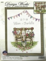"Design Works Wedding Chairs Announcement Cross Stitch Kit #2993 HL 9""x12"" USA  - $17.61"