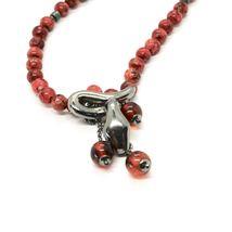 Collar de Plata 925 con Serpiente Pulido y Jaspe, Hecho en Italia By Maschia image 5