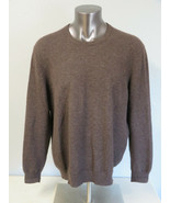 Mens Club Room Brown Solid Crewneck Cashmere 2 Ply Sweater Size XXL Long... - $34.64