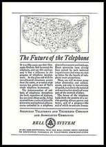 Telephone AD 1926 Bell Telecommunications Future of Telephone - $14.99