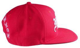 40oz Forty Ounce NYC Big Apple New York Old English Red Snapback Baseball Hat image 3