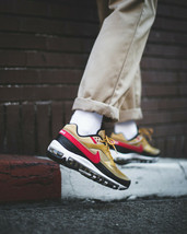 Nike Air Max 97 BW Metallic Gold Red Trainers image 2