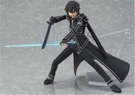 Fictional Character Sword Art Online Kirigaya Kazuto Kirito Figma Action... - $15.50