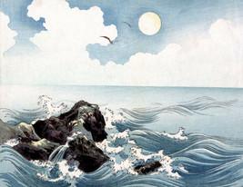 Japanese Art Asian Meiji Art Poster Print Woodblock Ocean Waves 11x15 - $12.50